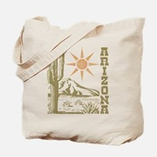 Vintage Arizona Cactus and Sun Tote Bag