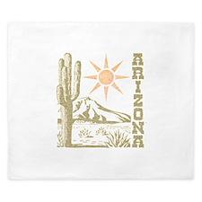 Vintage Arizona Cactus and Sun King Duvet
