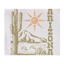 Vintage Arizona Cactus and Sun Throw Blanket