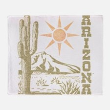 Vintage Arizona Cactus and Sun Throw Blanket
