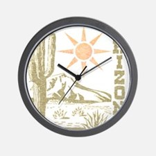 Vintage Arizona Cactus and Sun Wall Clock