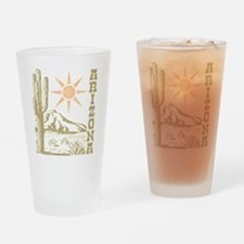 Vintage Arizona Cactus and Sun Drinking Glass