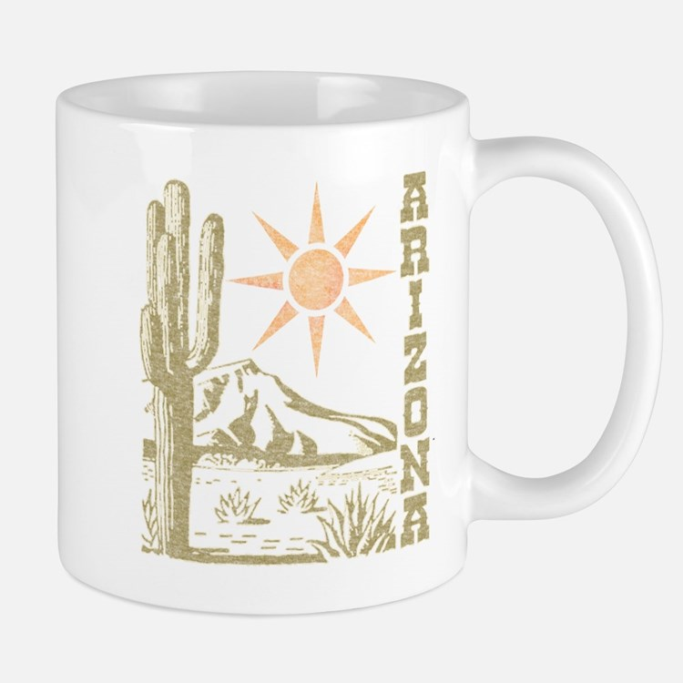 Vintage Arizona Cactus and Sun Mug