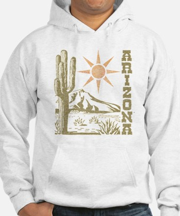 Vintage Arizona Cactus and Sun Hoodie