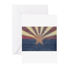 Faded Arizona State Flag Greeting Cards (Pk of 20)