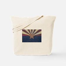 Faded Arizona State Flag Tote Bag