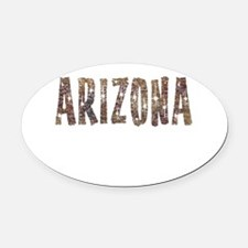 Arizona Coffee and Stars Oval Car Magnet