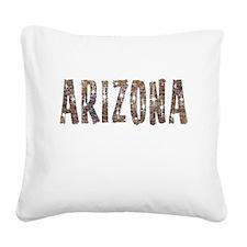 Arizona Coffee and Stars Square Canvas Pillow