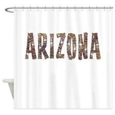 Arizona Coffee and Stars Shower Curtain