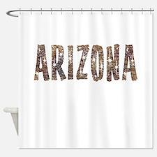 Arizona Coffee and Stars Shower Curtain