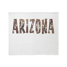 Arizona Coffee and Stars Throw Blanket