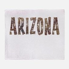 Arizona Coffee and Stars Throw Blanket