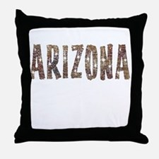 Arizona Coffee and Stars Throw Pillow