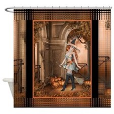 Fall Season Witch D1 Shower Curtain
