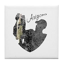 Arizona Fishing Tile Coaster