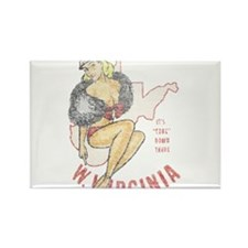 Faded West Virginia Pinup Rectangle Magnet (10 pac