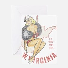 Faded West Virginia Pinup Greeting Card