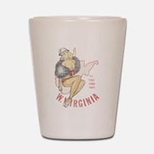 Faded West Virginia Pinup Shot Glass