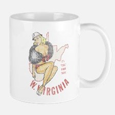 Faded West Virginia Pinup Mug