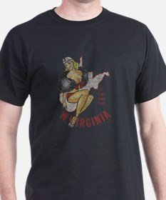 Faded West Virginia Pinup T-Shirt