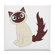 Cute Ragdoll Cat - Siamese Markings Tile Coaster