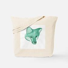 Foxy Head (teal) Tote Bag