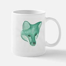 Foxy Head (teal) Mug