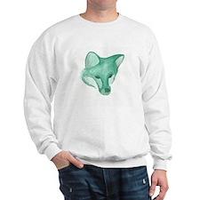 Foxy Head (teal) Sweatshirt