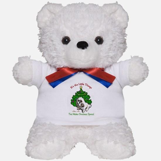 Lhasa Apso Christmas Teddy Bear