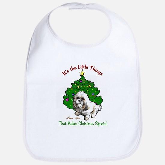 Lhasa Apso Christmas Bib