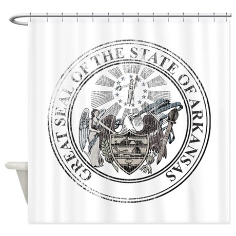 Arkansas State Seal Shower Curtain