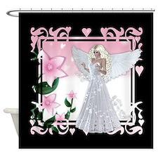 Flower Angel Fantasy Artwork Shower Curtain