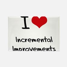 I Love Incremental Improvements Rectangle Magnet