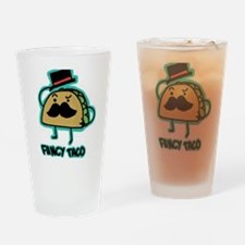 Taco mustache Drinking Glass