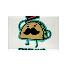 Taco mustache Rectangle Magnet