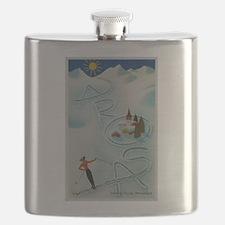 Vintage Arosa Switzerland Travel Flask