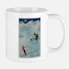 Vintage Arosa Switzerland Travel Mug