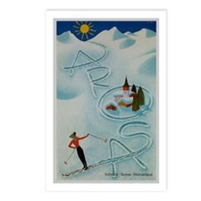 Vintage Arosa Switzerland Travel Postcards (Packag