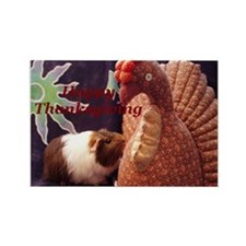 Happy Thanksgiving Guinea Pig Rectangle Magnet