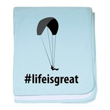 Paragliding baby blanket