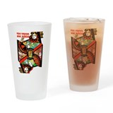 Blackjack retro vintage Pint Glasses