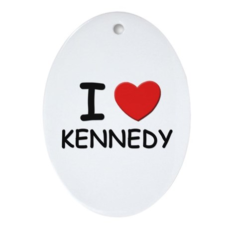 I love Kennedy Oval Ornament