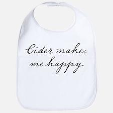 Cider makes me happy Bib