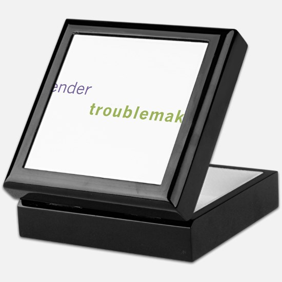 Gender Troublemaker Keepsake Box