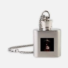 Leather Top Man Flask Necklace