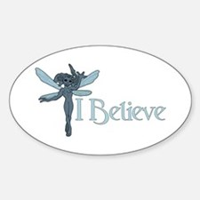 """""""I Believe"""" Pixies Oval Decal"""