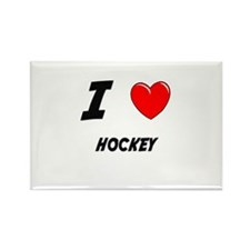 HOCKEY Rectangle Magnet