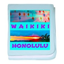 Waikiki Hawaii Sunsets baby blanket