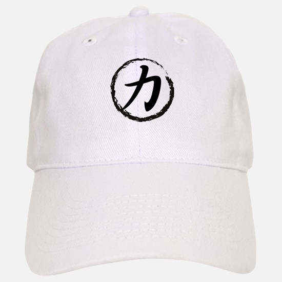 Kanji Symbol Strength Baseball Baseball Cap