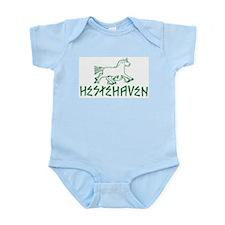 Green Logo Hestehaven Infant Creeper